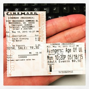 Age Of Ultron Ticket