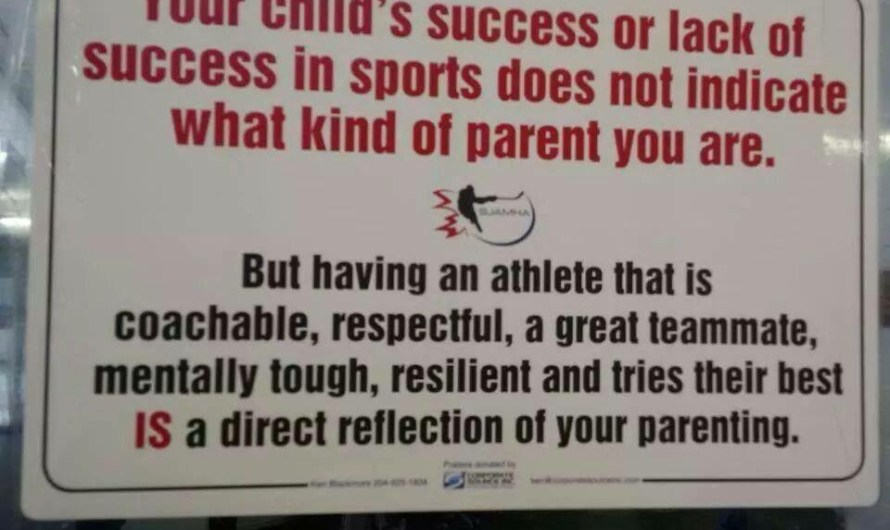 Parents of Child Athletes Should Remember This