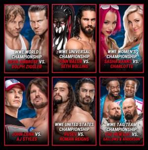 SummerSlam 2016 This Sunday - Card