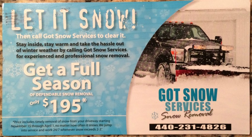 Got Snow Services 2016 Front