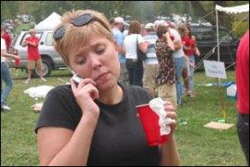 Danielle makes the call