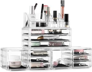 Organize Makeup with this 4 piece organizer set.