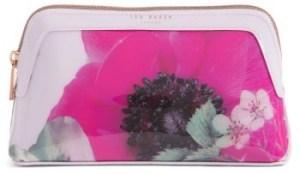 Ted Baker London Itzel Neon Poppy Cosmetics Case
