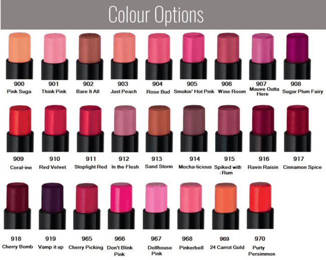 Wet n Wild MegaLast Lip Color Shade Chart