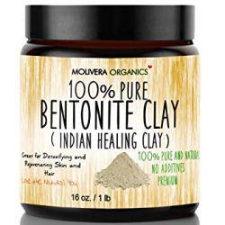 Molivera Organics 100% Pure Bentonite Clay