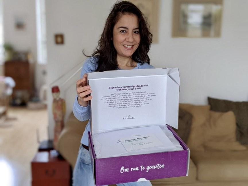 JouwBox by Ekoplaza, iets met blije boodschappen