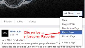 Primer paso: Reporta la página