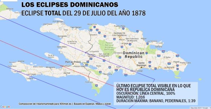 Último eclipse total de sol en RD