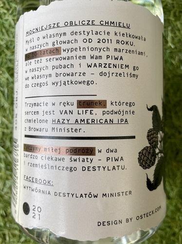 Wytwórnia Destylatów Minister - etykieta
