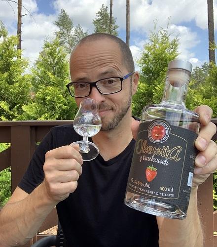 Degustacja okowity z truskawek Andrzej Urbanek