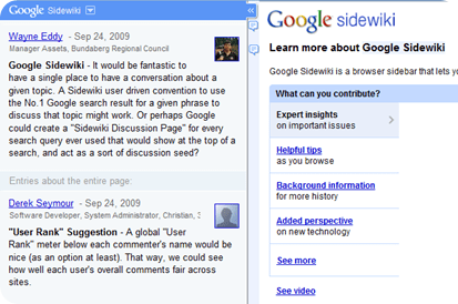 Google Sidewiki - Free commenting by anyone on almost any website | 40tech.com