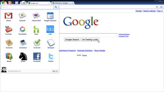 Google Chrome OS | Applications Pane | Chromium Projects