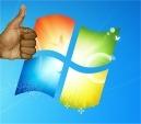 windows 7 thumbs up