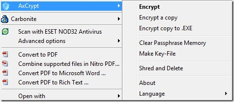 AxCrypt encryption for Evernote