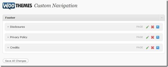 WooThemes custom navigation menu