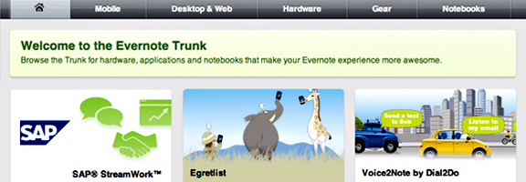 Evernote Trunk: Less Than Hoped For, But A Nice Addition | 40Tech