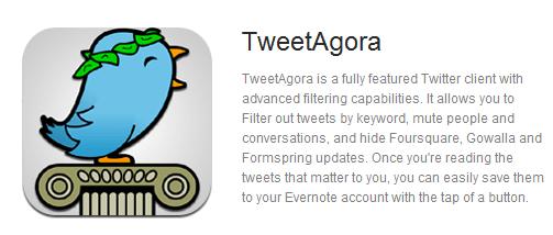 TweetAgora Twitter Client on Evernote Trunk