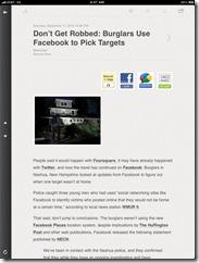 Reeder RSS reader feed screenshot