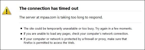 mpaa site taken down