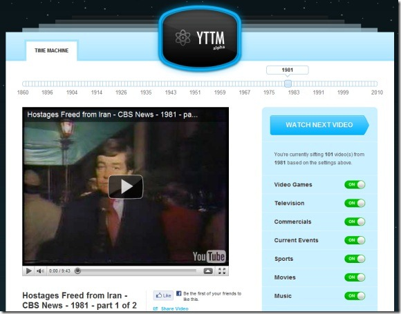 youtube time machine full screen