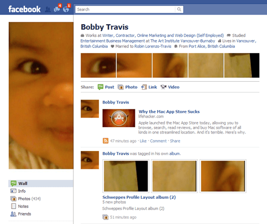 Bobby Travis Facebook Page Custom Layout
