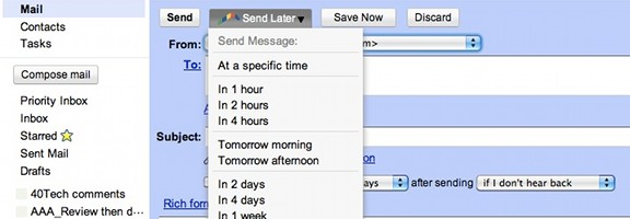 Schedule Your Gmail Messages With Boomerang