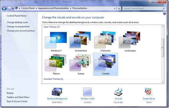 Theme Personalization in Windows 7 | 40Tech