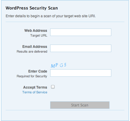 WordPress scan
