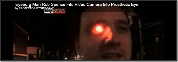 Rob Spence, Eyeborg: Endoscopic, Wireless Web Cam in Prosthetic Eye   40Tech