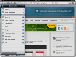 Springpad Mobile Web Clipper for Mobile Safari in Atomic Web Browser | 40Tech