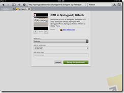 Springpad Mobile Safari Web Clipper | 40Tech