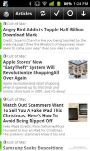 NewsRob with thumbnails