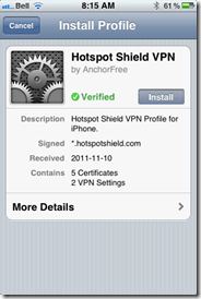Hotspot Shield VPN for iOS, iPhone, iPad, iPod Touch | 40Tech