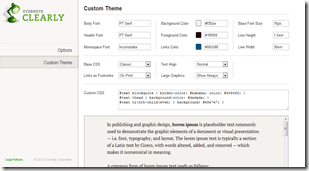 Evernote Clearly Customization, Theme Options | 40Tech