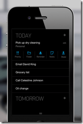 Any.DO Task Manager, Black Theme, iPhone