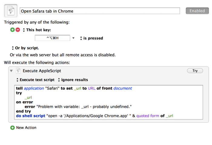 Open Safari Pages in Chrome With a Keystroke – 40Tech