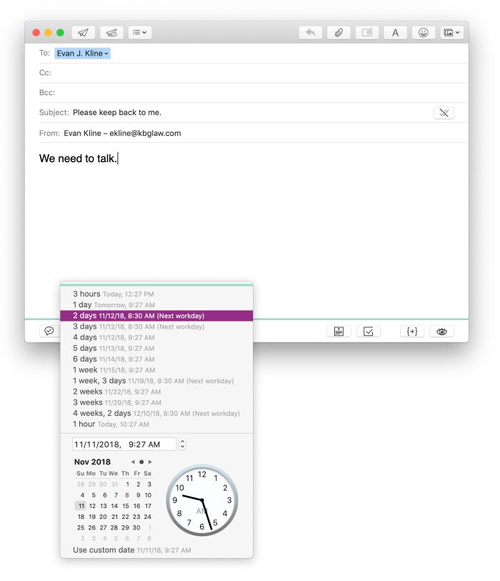 Mailbutler follow up feature