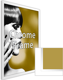 Chrome Frame with Print