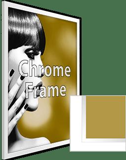 Chrome Frame with Print