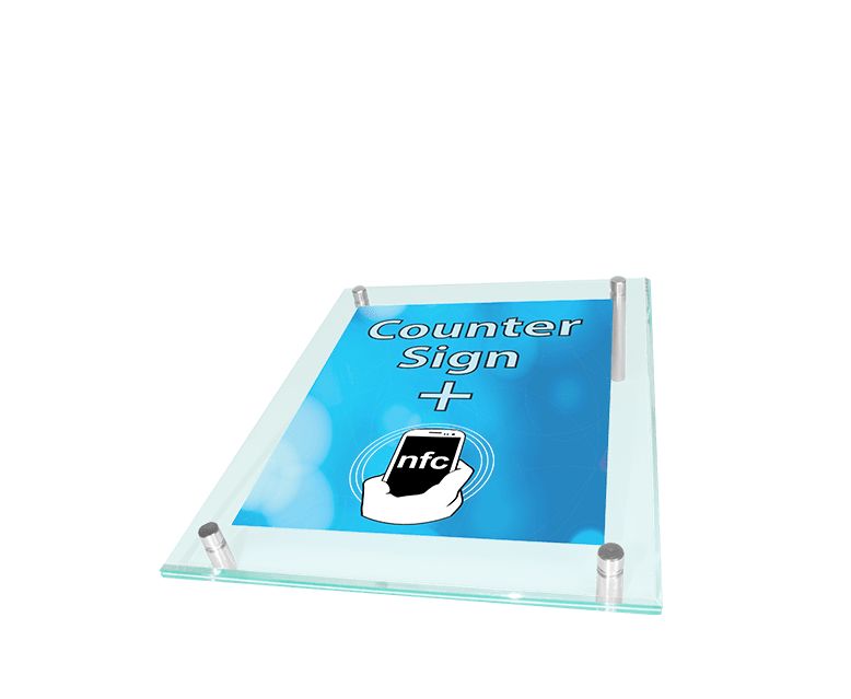 NFC Counter Sign with Replaceable Poster