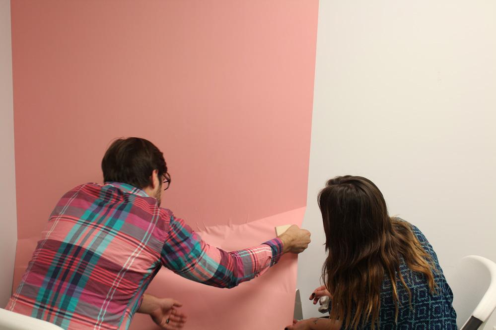 Printed Vinyl Wall Wrap Adhesive Installation