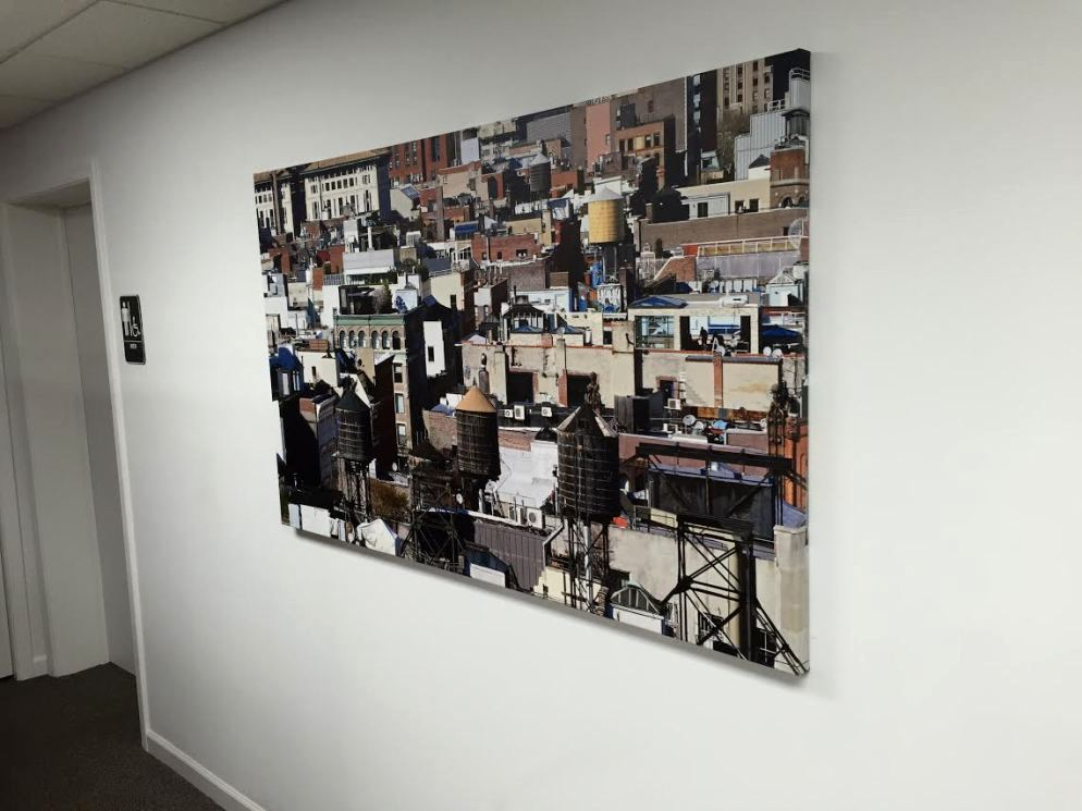 Printed Canvas Wrap with Urban Images