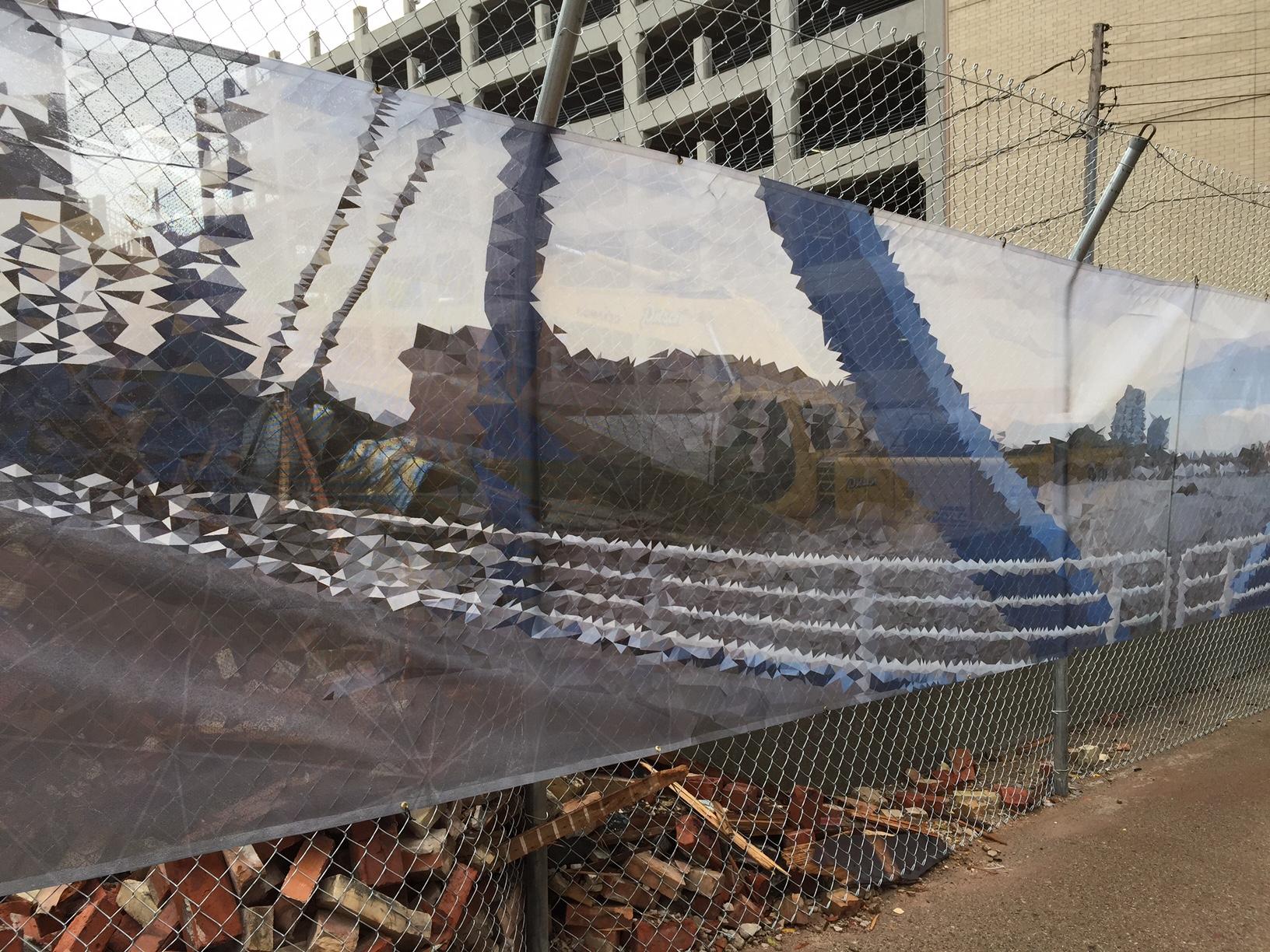 Mesh Vinyl Barricade