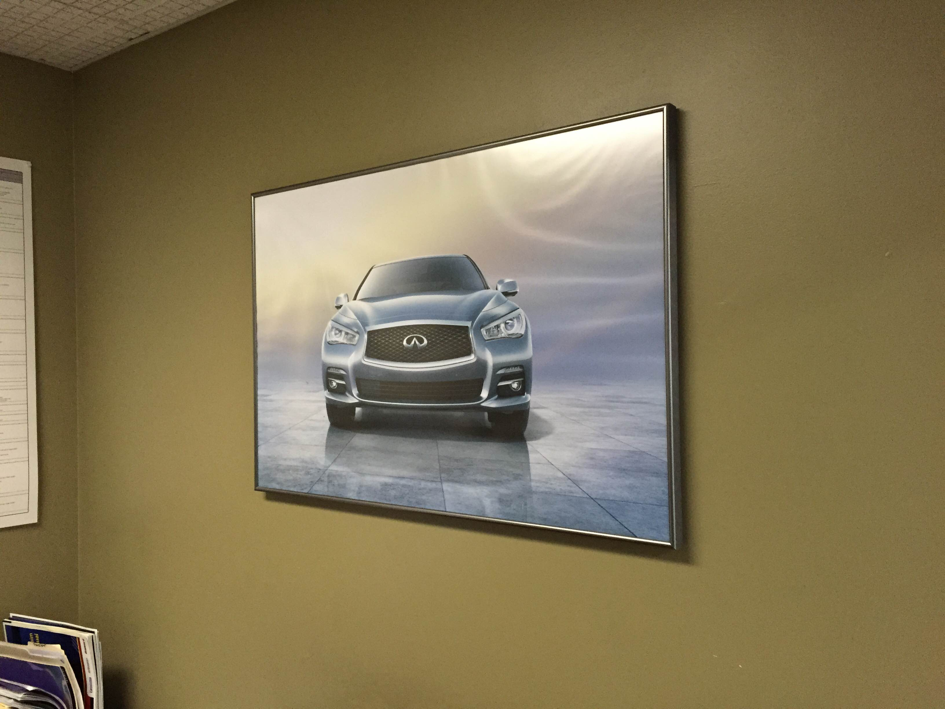Canvas Wrapped Signage for Car Dealerships.