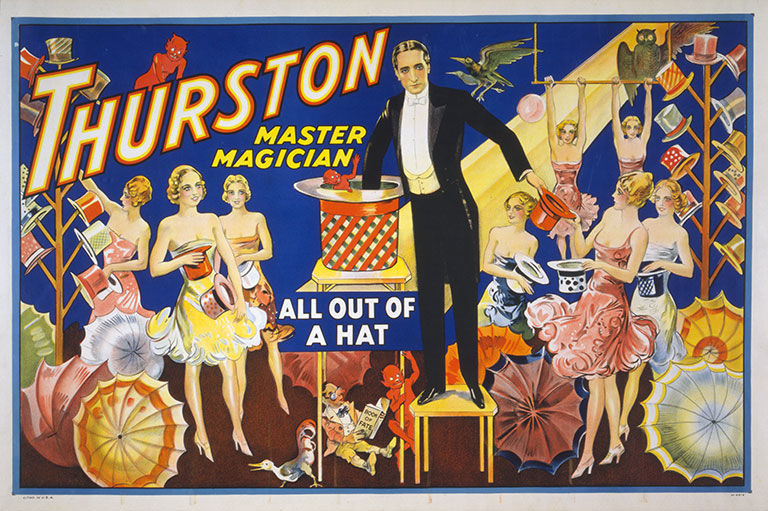 Printed Vintage Poster Design of the Master Magician - 40