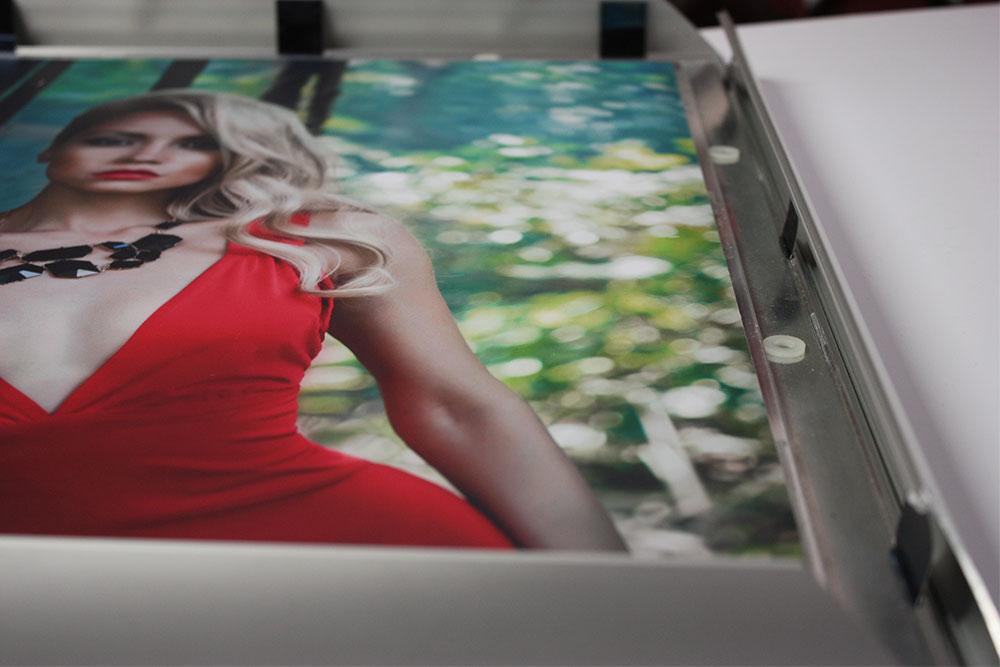 Duratrans duratran transparency film backlit light box aluminum framing system