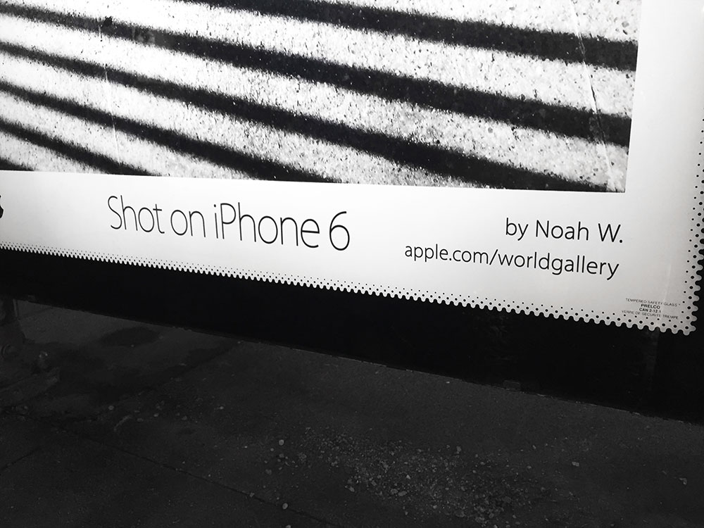 shot with iPhone 6 printed signage backlit JCDecaux