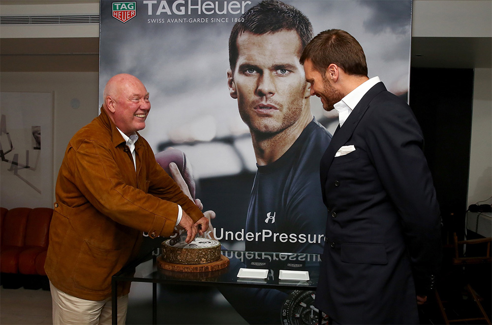 Tom Brady SEG Backdrop Tag Heuer Celebrity Ambassador