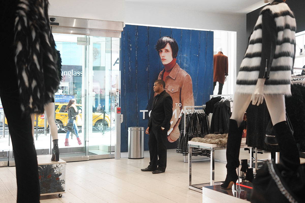 SEG Fabric printing Topshop NYC signage in-store retail fashion