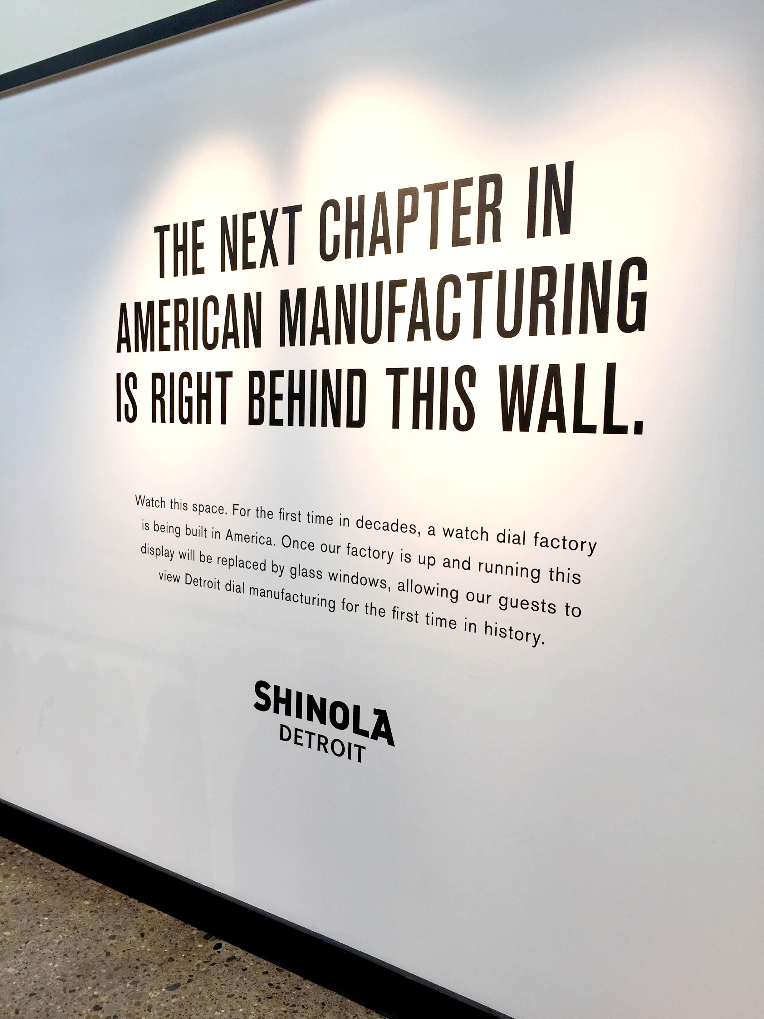 Adhesive Vinyl Wall Wrap Shinola Detroit